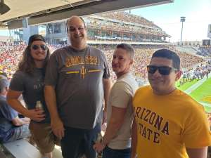 Francisco attended Arizona State University Sun Devils vs. WSU - NCAA Football on Oct 12th 2019 via VetTix