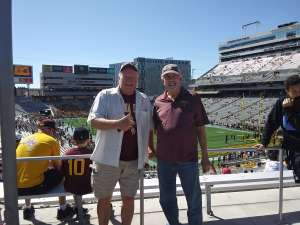 William attended Arizona State University Sun Devils vs. WSU - NCAA Football on Oct 12th 2019 via VetTix