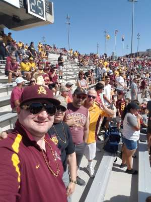 Larry attended Arizona State University Sun Devils vs. WSU - NCAA Football on Oct 12th 2019 via VetTix
