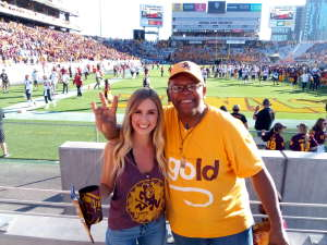Jamie attended Arizona State University Sun Devils vs. WSU - NCAA Football on Oct 12th 2019 via VetTix