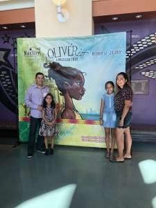 Richard attended OLIVERio: A Brazilian Twist - Sunday 1PM on Oct 20th 2019 via VetTix