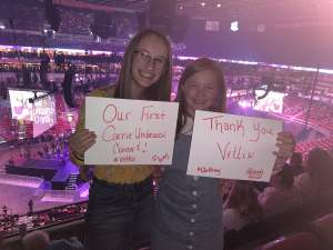Tanya attended Carrie Underwood: the Cry Pretty Tour 360 on Oct 17th 2019 via VetTix