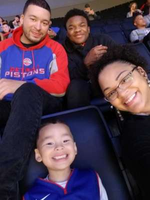 RYAN attended Detroit Pistons vs. New York Knicks - NBA **military Night** on Nov 6th 2019 via VetTix