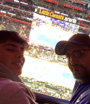 Jason attended Detroit Pistons vs. Charlotte Hornets - NBA on Nov 29th 2019 via VetTix