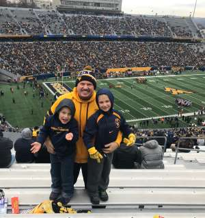Michael Garman SFC (Ret) attended West Virginia Mountaineers vs. Oklahoma State - NCAA Football on Nov 23rd 2019 via VetTix
