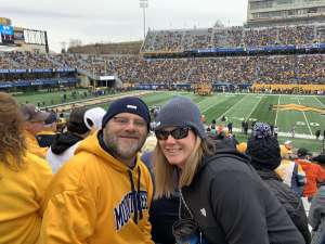Kenny attended West Virginia Mountaineers vs. Oklahoma State - NCAA Football on Nov 23rd 2019 via VetTix