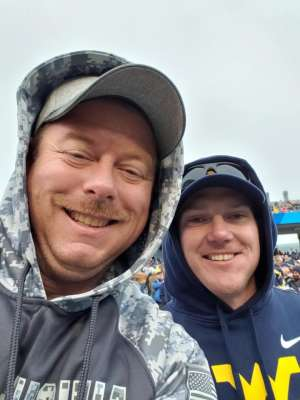 Jason attended West Virginia Mountaineers vs. Oklahoma State - NCAA Football on Nov 23rd 2019 via VetTix
