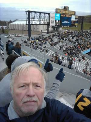 donald attended West Virginia Mountaineers vs. Oklahoma State - NCAA Football on Nov 23rd 2019 via VetTix