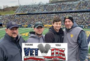 David attended West Virginia Mountaineers vs. Oklahoma State - NCAA Football on Nov 23rd 2019 via VetTix