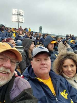 Ronald attended West Virginia Mountaineers vs. Oklahoma State - NCAA Football on Nov 23rd 2019 via VetTix
