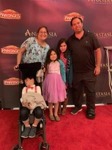 Blen attended Anastasia - Hollywood Pantages Theatre on Oct 8th 2019 via VetTix