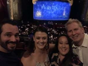 Corey attended Anastasia - Hollywood Pantages Theatre on Oct 8th 2019 via VetTix