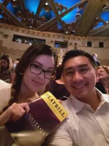 Thanh attended Anastasia - Hollywood Pantages Theatre on Oct 8th 2019 via VetTix