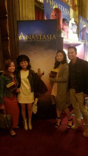 Jonathan attended Anastasia - Hollywood Pantages Theatre on Oct 8th 2019 via VetTix