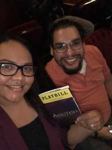Josue attended Anastasia - Hollywood Pantages Theatre on Oct 8th 2019 via VetTix