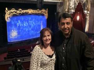 Angelique attended Anastasia - Hollywood Pantages Theatre on Oct 8th 2019 via VetTix