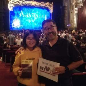 Vincent attended Anastasia - Hollywood Pantages Theatre on Oct 8th 2019 via VetTix