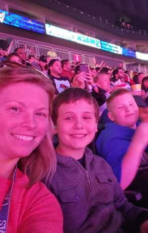 Angela attended WWE SmackDown on Oct 11th 2019 via VetTix