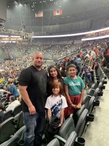 Sergio attended WWE SmackDown on Oct 11th 2019 via VetTix