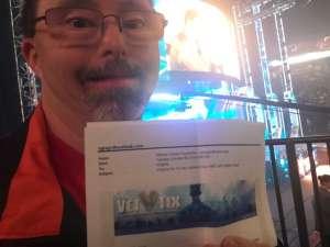 Virginia attended WWE SmackDown on Oct 11th 2019 via VetTix