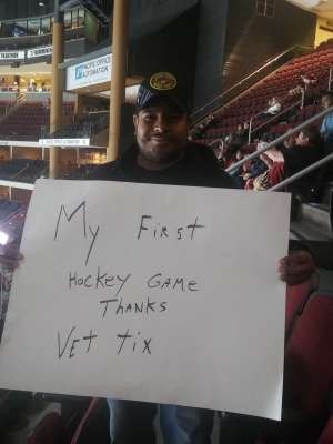 Ramon attended Arizona Coyotes vs. Montreal Canadiens - NHL on Oct 30th 2019 via VetTix