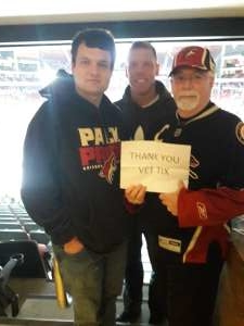 William attended Arizona Coyotes vs. Montreal Canadiens - NHL on Oct 30th 2019 via VetTix