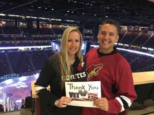Minadeo attended Arizona Coyotes vs. Montreal Canadiens - NHL on Oct 30th 2019 via VetTix