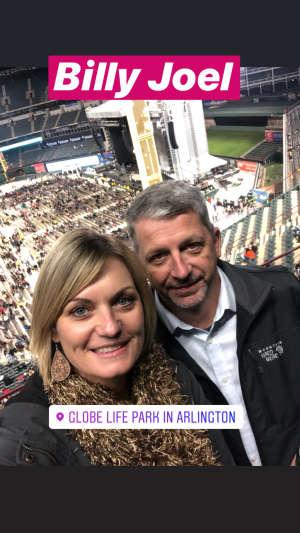 Nicole attended Billy Joel - Please Read Details Below on Oct 12th 2019 via VetTix