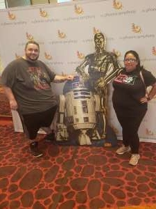 Magdalena attended Star Wars: The Empire Strikes Back in Concert - Sunday Matinee on Oct 13th 2019 via VetTix