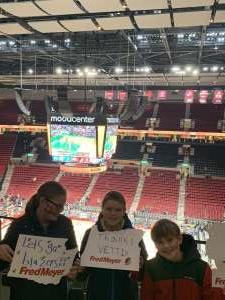 Zachary attended Portland Trail Blazers vs. Oklahoma City Thunder - NBA on Nov 27th 2019 via VetTix