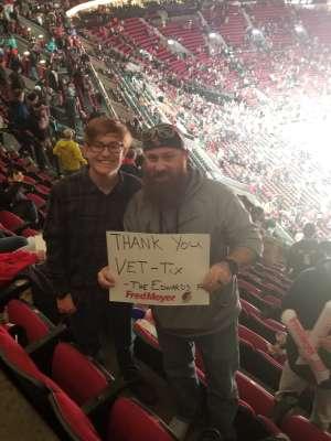 Jacob attended Portland Trail Blazers vs. Oklahoma City Thunder - NBA on Nov 27th 2019 via VetTix