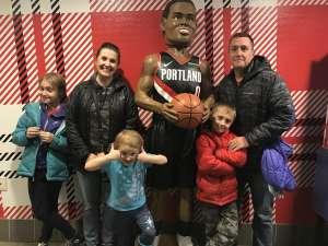 Thad attended Portland Trail Blazers vs. Oklahoma City Thunder - NBA on Nov 27th 2019 via VetTix