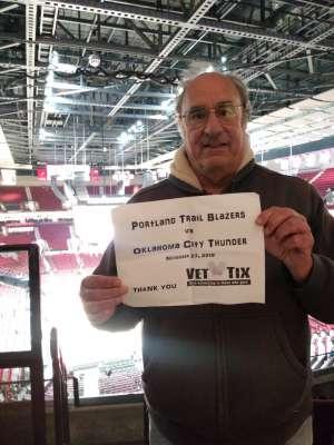 Michael attended Portland Trail Blazers vs. Oklahoma City Thunder - NBA on Nov 27th 2019 via VetTix