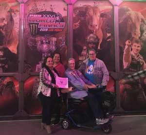 michele attended PBR Xxvi World Finals 2019 - Las Vegas - Wednesday Nov. 6 Only on Nov 6th 2019 via VetTix