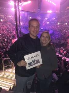 Adam attended Carrie Underwood: the Cry Pretty Tour 360 on Oct 16th 2019 via VetTix