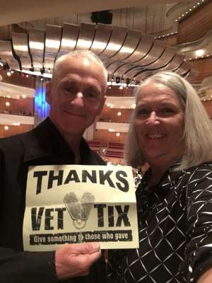 William attended Tchaikovskys - Pathetique - Presented by the Pacific Symphony on Oct 18th 2019 via VetTix