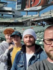 James attended Cincinnati Bengals vs. Jacksonville Jaguars - NFL on Oct 20th 2019 via VetTix