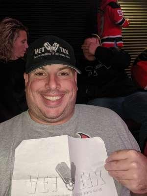 Gregory attended New Jersey Devils vs. Vancouver Canucks - NHL on Oct 19th 2019 via VetTix