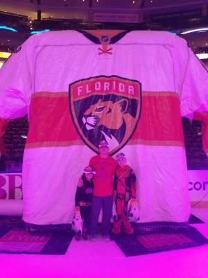 Deric attended Florida Panthers vs. Colorado Avalanche - NHL on Oct 18th 2019 via VetTix