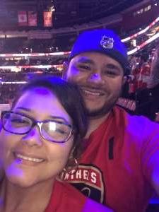 Rolando attended Florida Panthers vs. Colorado Avalanche - NHL on Oct 18th 2019 via VetTix