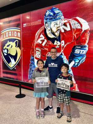 GFamily attended Florida Panthers vs. Pittsburgh Penguins - NHL on Oct 22nd 2019 via VetTix