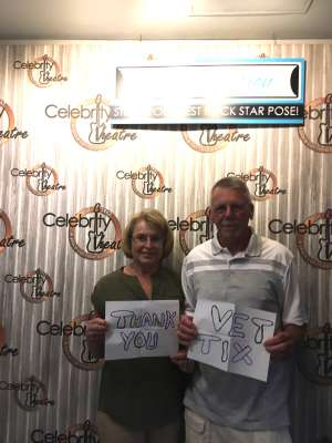 Thomas attended A Night With Janis Joplin - Celebrity Theater on Oct 19th 2019 via VetTix