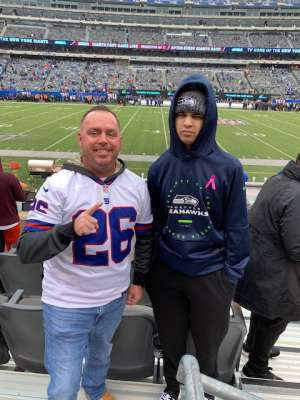 Nicholas attended New York Giants vs. Arizona Cardinals - NFL on Oct 20th 2019 via VetTix
