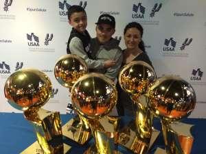 Eziah attended San Antonio Spurs vs. Oklahoma City Thunder - NBA on Nov 7th 2019 via VetTix
