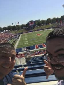 marcus attended Southern Methodist University Mustangs vs. Temple University Owls - NCAA Football on Oct 19th 2019 via VetTix