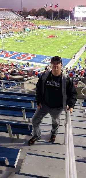 Robert attended Southern Methodist University Mustangs vs. Tulane University - NCAA Football on Nov 30th 2019 via VetTix