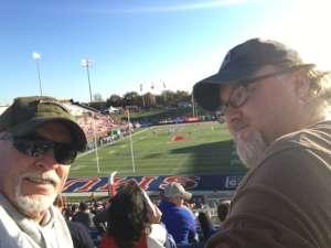 James attended Southern Methodist University Mustangs vs. Tulane University - NCAA Football on Nov 30th 2019 via VetTix
