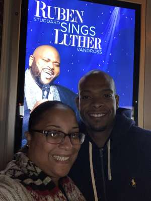 Nakia attended Ruben Studdard Sings Luther on Oct 30th 2019 via VetTix