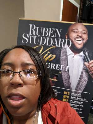 JerZgirl  attended Ruben Studdard Sings Luther on Oct 30th 2019 via VetTix
