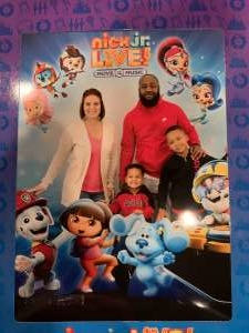 Crystal attended Nick Jr. Live! Move to the Music - Presented by Vstar Entertainment on Dec 1st 2019 via VetTix